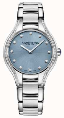 Raymond Weil Womens noemia diamant bracelet en acier inoxydable cadran bleu 5132-STS-50081