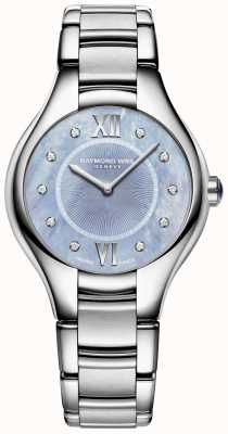 Raymond Weil Womens noemia diamant bracelet en acier inoxydable cadran bleu 5132-ST-00955