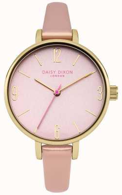 Daisy Dixon Bracelet en métal rose rose avec cadran miroir rose DD060PPG