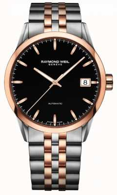 Raymond Weil Mens freelancer automatique rose 2 tons en acier inoxydable 2740-SP5-20011