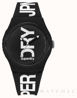 Superdry Bracelet noir en silicone noir SYG189BW