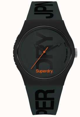 Superdry Vert furtif avec impression de texte noir SYG189NB