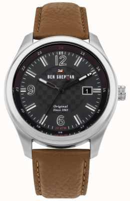 Ben Sherman Le bracelet noir en cuir à motif noir sugarman WBS106BT