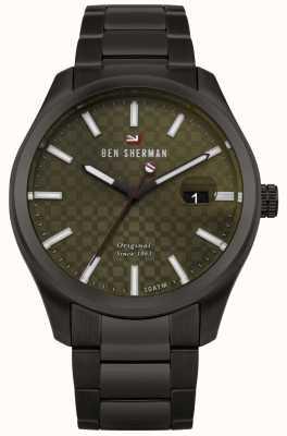 Ben Sherman Le bracelet en acier noir professionnel du cadran ronnie WBS109BBM