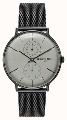 Kenneth Cole New York gris cadran noir maille en acier inoxydable bracelet KC15188001