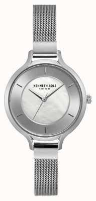 Kenneth Cole New York cadran en argent bracelet en acier inoxydable KC15187001