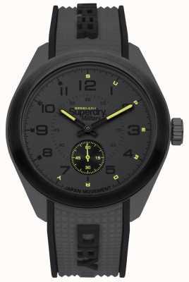 Superdry Navigator militaire noir et gris deux tons bracelet en caoutchouc SYG214E