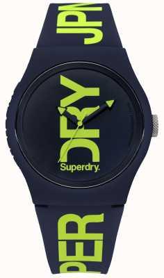 Superdry Silicone marine avec impression de texte vert SYG189UN