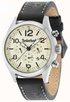 Timberland Ashmont bracelet en cuir noir crème multi 15249JS/07