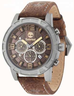 Timberland Bracelet en cuir brun marron multi-chaînes Maynard 15251JSU/12