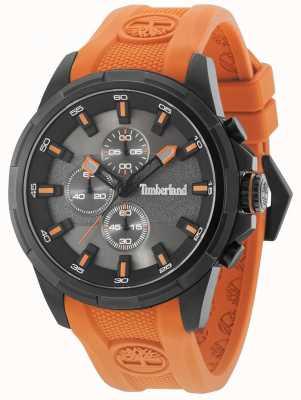Timberland Bandoulière orange en silicone Boxford, cadran gris métal 15253JSB/61P