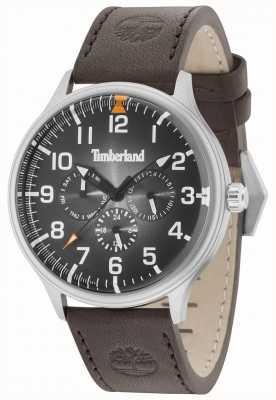 Timberland Blanchard cadran noir bracelet en cuir marron foncé 15270JS/02