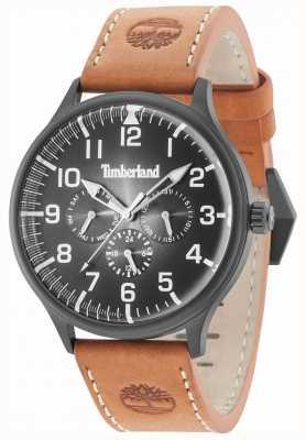 Timberland Blanchard cadran noir bracelet en cuir marron 15270JSB/02