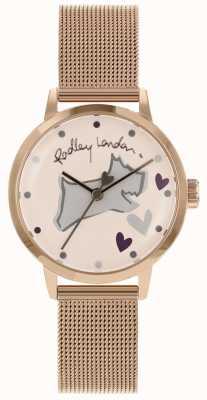 Radley Love lane acier inoxydable bracelet en or rose bracelet en maille RY4324