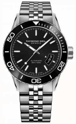 Raymond Weil Bracelet homme en acier inoxydable tango noir 8260-ST1-20001