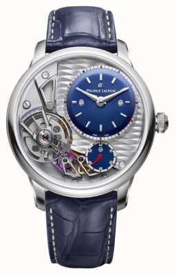 Maurice Lacroix Gravure de chef-d'œuvre 25e anniversaire bracelet en cuir bleu MP6118-SS001-434-1