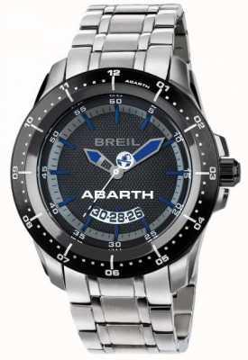 Breil Abarth en acier inoxydable ip cadran noir et bleu TW1487