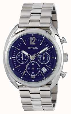 Breil Cadran bleu chronographe Beaubourg en acier inoxydable TW1665