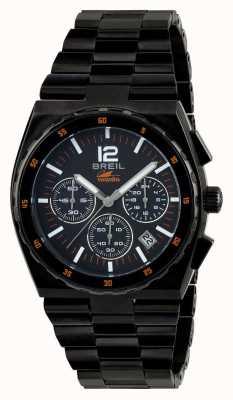 Breil Manta sport acier inoxydable ip noir chronographe cadran noir TW1686