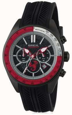 Breil Abarth acier inoxydable ip noir chronographe noir et rouge dia TW1693