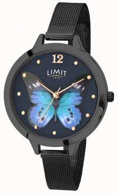 Limit Womens secret jardin noir pvd papillon montre 6270.73