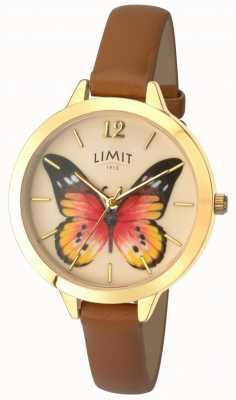 Limit Montre secrète en cuir de papillon de jardin de Womens 6275.73