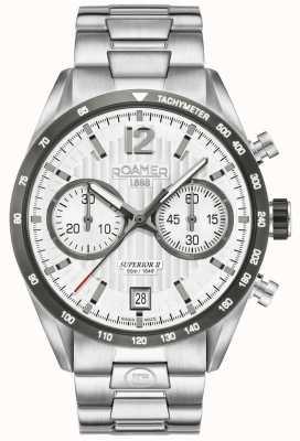 Roamer Montre bracelet chrono homme II en argent 510902411450