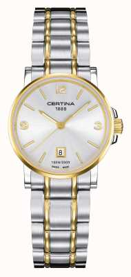 Certina Womens ds caimano deux tons regarder C0172102203700