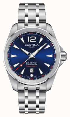 Certina Mens ds action cadran bleu montre C0328511104700