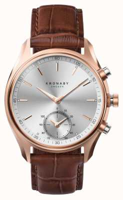 Kronaby 43mm sekel * vu dans la montre intelligente gq bluetooth rose d'or / cuir A1000-2746