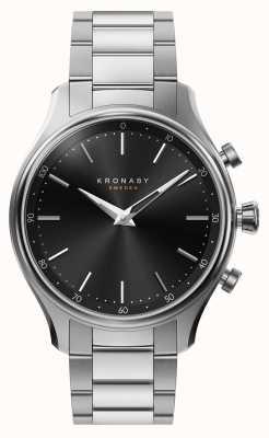 Kronaby 38mm sekel bluetooth acier bracelet en métal smartwatch A1000-2750