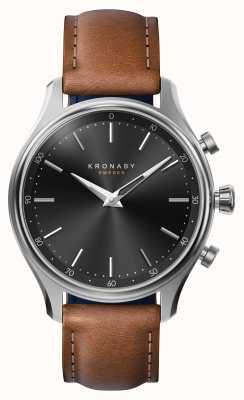 Kronaby 38mm sekel bluetooth acier bracelet en cuir smartwatch A1000-2749