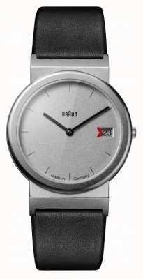 Braun Bracelet en cuir noir design Classique 1989 hommage gris AW50