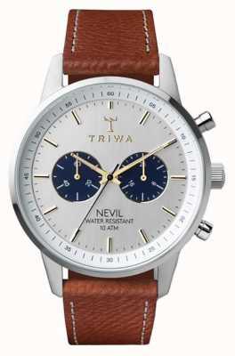 Triwa Loch nevil dégringolé marron cousu classique 2 NEST116-010212