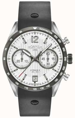 Roamer Bracelet chrono silicone noir ii supérieur cadran blanc 510902411405