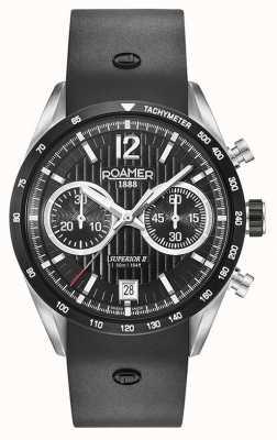 Roamer Bracelet chrono silicone noir ii supérieur noir 510902415405