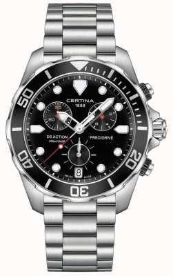 Certina Mens ds action precidrive chronographe montre noire C0324171105100