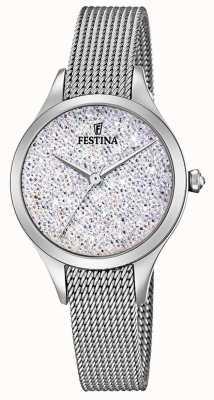 Festina Womens mademoiselle en acier inoxydable maille swarovski cadran F20336/1