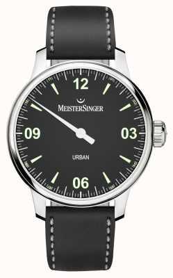 MeisterSinger Cadran et bracelet noirs urbains UR902