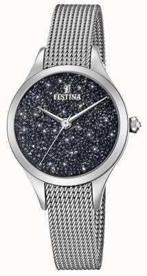 Montre femme Festina avec bracelet en maille cristaux swarovski F20336/3