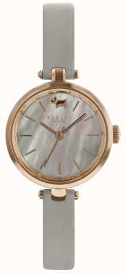 Radley Mesdames 28mm boîtier gris bracelet en cuir de frêne RY2658