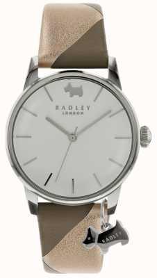 Radley Mesdames argent 35mm boîtier argent / blanc cadran argent chien charme RY2647