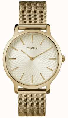 Timex Bracelet en maille or 34 mm / cadran doré TW2R36100