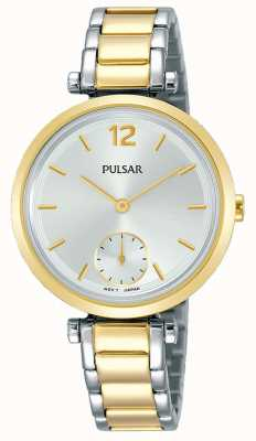 Pulsar Womens deux tons bracelet en acier inoxydable bracelet en argent PN4064X1