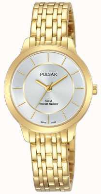 Pulsar Womens plaqué or bracelet en acier inoxydable 50m de résistance PH8370X1