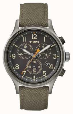 Timex Bracelet en nylon vert chrono allié / cadran noir TW2R47200