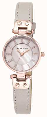 Anne Klein Womens lynn watch rise bracelet en cuir doré AK/N1950RGTP