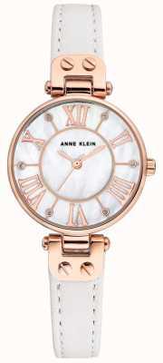 Anne Klein Womens jane montre bracelet en or rose bracelet en cuir AK/N2718RGWT