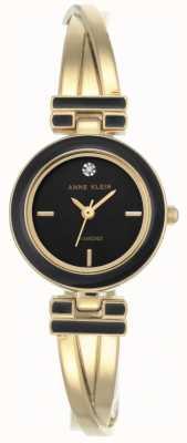 Anne Klein Womens melanie doré bracelet noir cadran AK/N2622BKGB