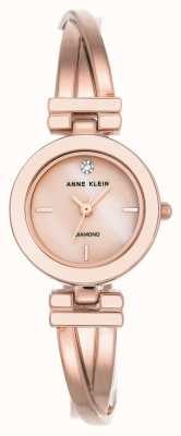 Anne Klein Womens leah rose bracelet en or ton cadran blanc AK/N2622WTRG